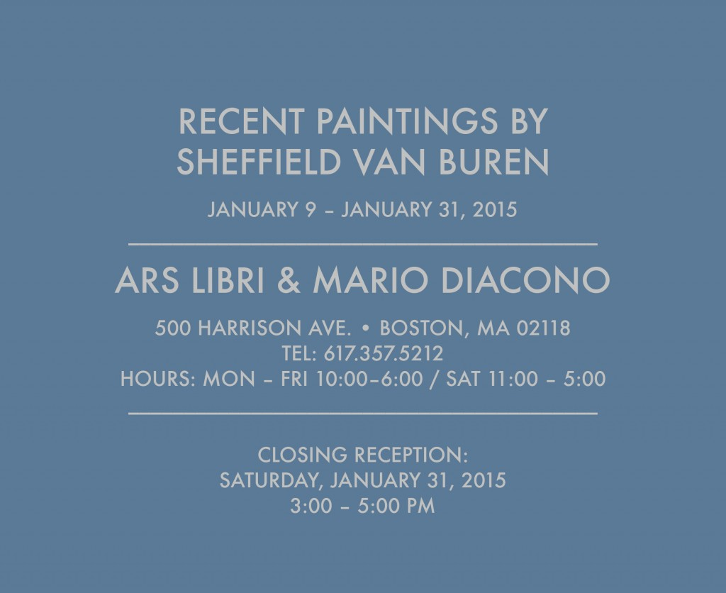 Closing reception January 31 2015 3:30-5pm
